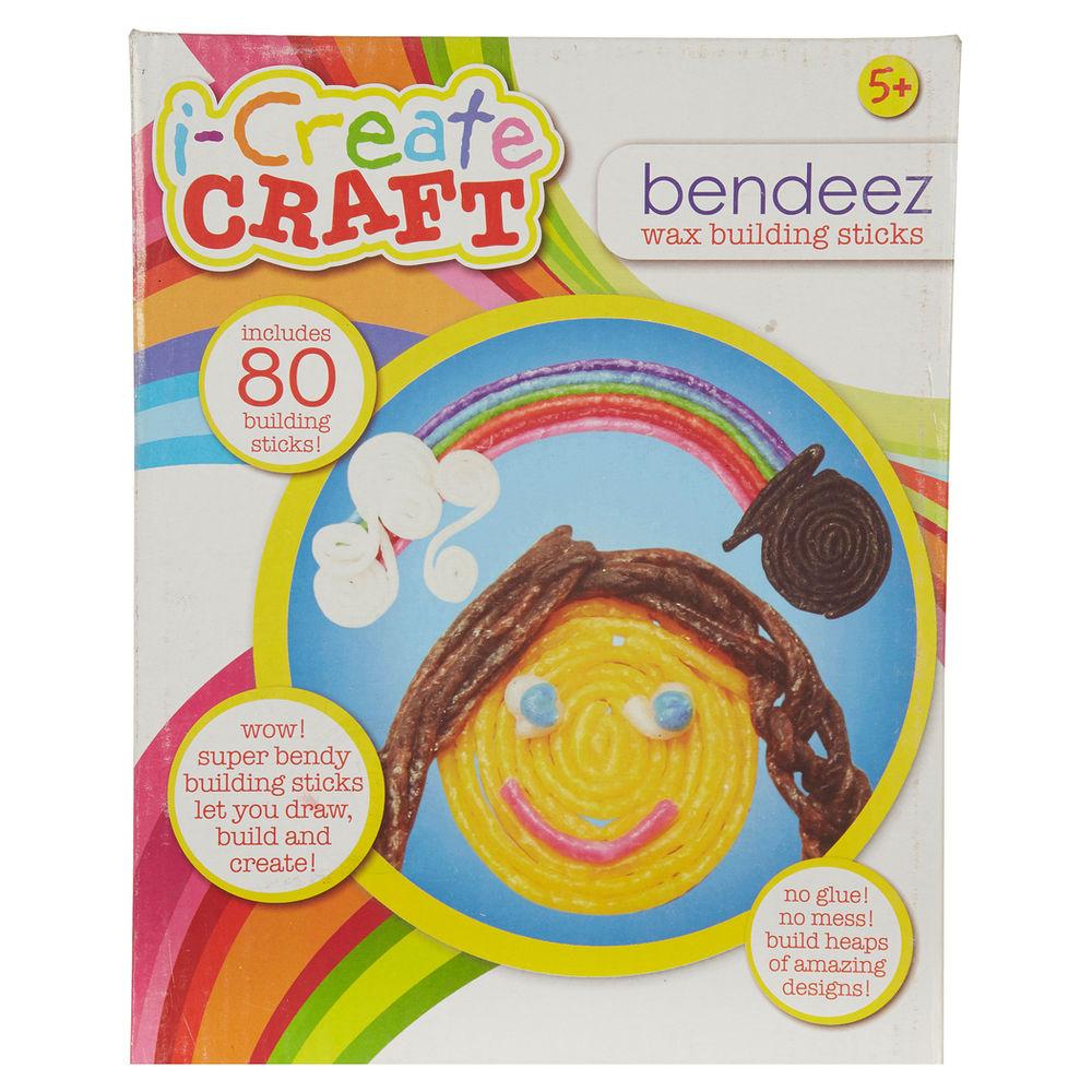 i-Create Craft Bendeez Wax Building Sticks 80 Pack