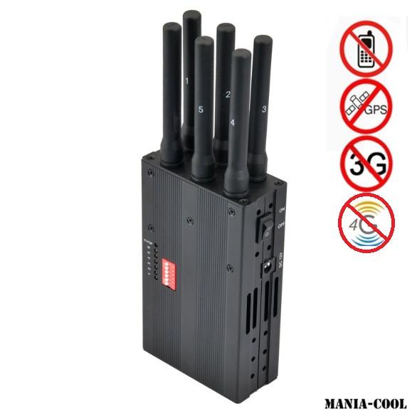 Portable Brouilleur six antennes
