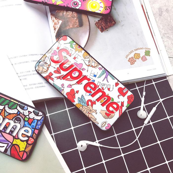 シュプリームパロディー風 iphone8/7/6s 携帯ケース