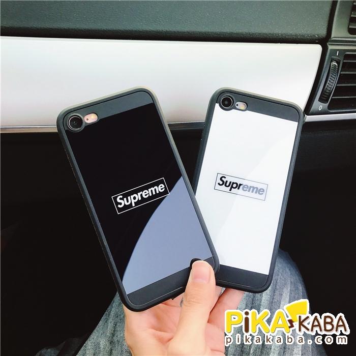シュプリーム ストリート iPhone8/Xケース 鏡面 カップル