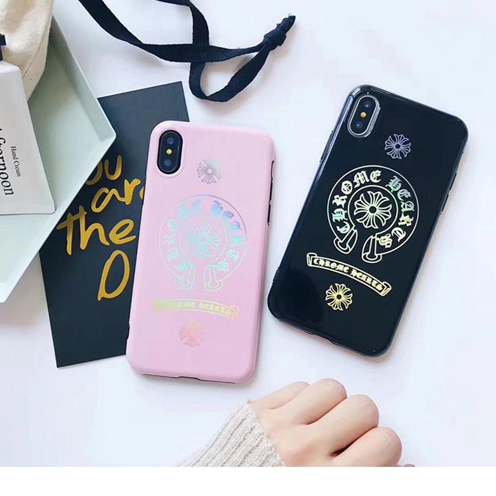 iphoneX用 ケース カラフル クロムハーツ ブランド iPhone8ケース カップル 綺麗 Chrome Hearts iphone8plusカバー お似合い ソフトケース