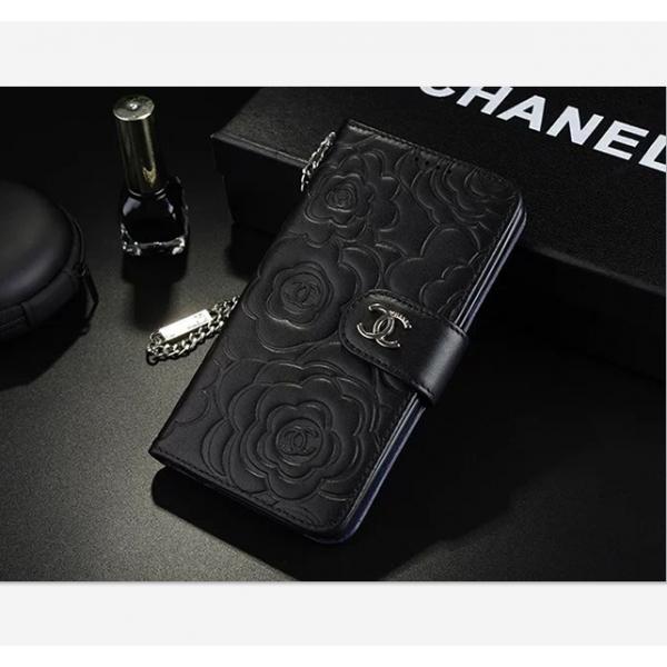 シャネルカメリア iphoneX/8/7plus スマホケース 手帳型