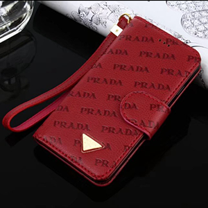 セレブ愛用ブランド プラダ iPhonex/8ケース マグネット式 金標 カード付き