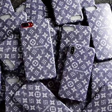 ヴィトン SUPREME iPhoneX/8/8plusケース コラボ ファッション