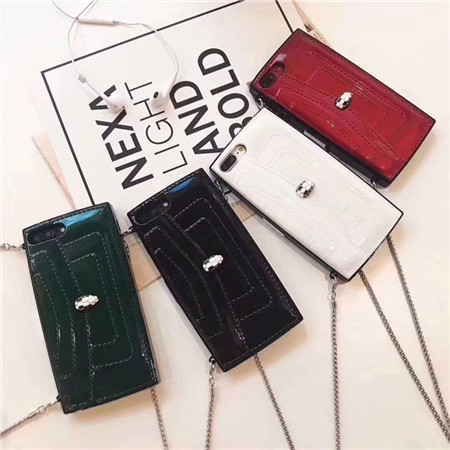 ブルガリ携帯ケース アイホンプラス カバー ショルダーバッグ iphonexケース オシャレ BVLGARI