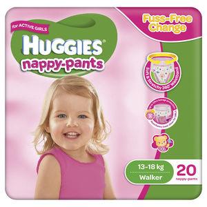 Huggies Walker Girl Nappy Pants   20 pack