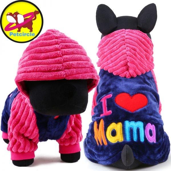I love papa and mama winter Dog Clothing - Pet Australia