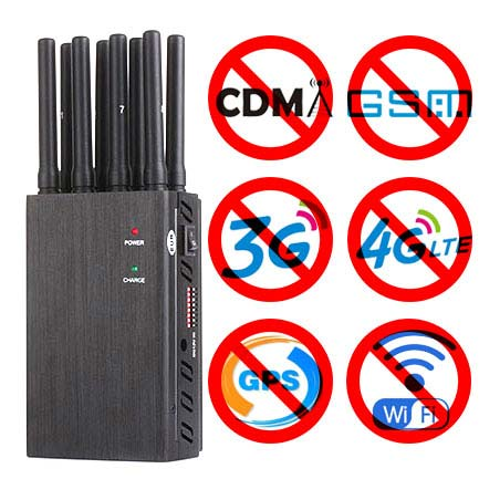 8 Bands Handheld Jammers 2G 3G 4G LOJACK