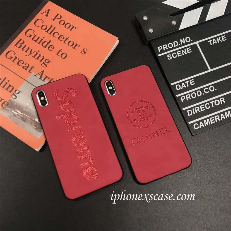 アイフォンXs/Xs Max ケース ブランド CHANEL SUPREME iphoneXRカバーケース 個性 シャネル iphoneXケース キラキラ iphone7 plusケース シュプリーム