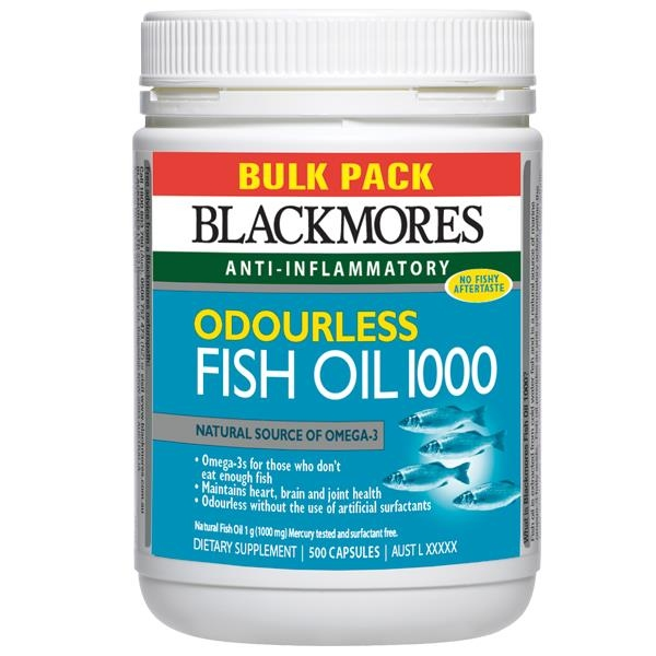 Blackmores Odourless Fish Oil 1000mg Bulk Pack 500 Capsules - Chemist Warehouse