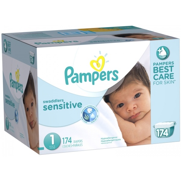 Pampers Swaddlers Sensitive Diapers - Free Shipping
